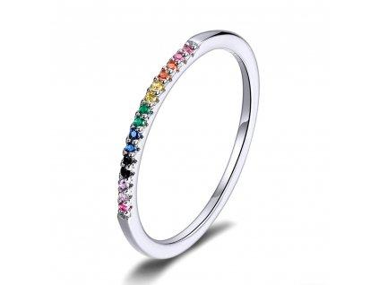 Stříbrný prsten COLORS s vícebarevnými zirkony od OLIVIE
