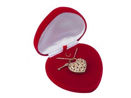 Dárková krabička na šperky srdce
