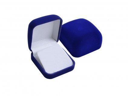 Modrá dárková krabička na řetízek, přívěsek