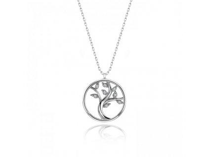 Stříbrný náhrdelník STROM ŽIVOTA se Swarovski zirkony od OLIVIE