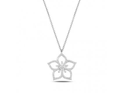 Stříbrný náhrdelník LOTOS rhodiovaný