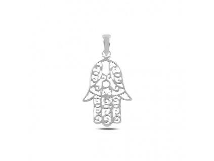 Stříbrný přívěsek HAMSA ochranný symbol
