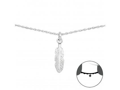 CHOKER stříbrný náhrdelník PÍRKO