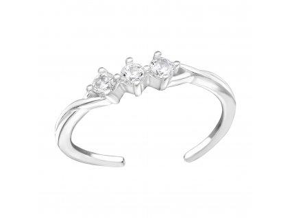 Prsten NA NOHU stříbrný se zirkony od OLIVIE