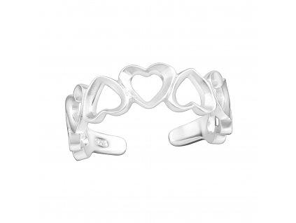 Srdíčkový prsten NA NOHU stříbrný