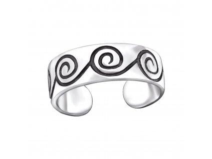 Stříbrný prsten na nohu od OLIVIE