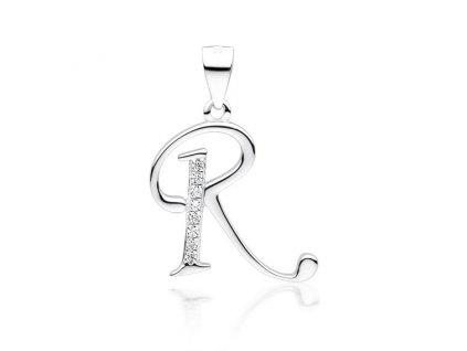 PÍSMENO R stříbrný přívěsek od OLIVIE
