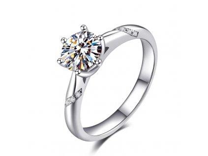 Krásný stříbrný zásnubní prsten AMBER od OLIVIE