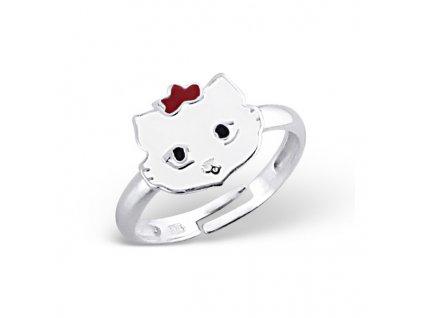 dětský stříbrný prstýnek KOČIČKA pro děti