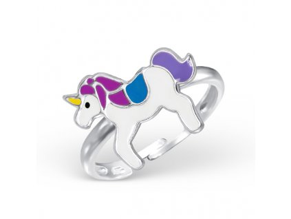 dětský stříbrný prstýnek JEDNOROŽEC pro děti