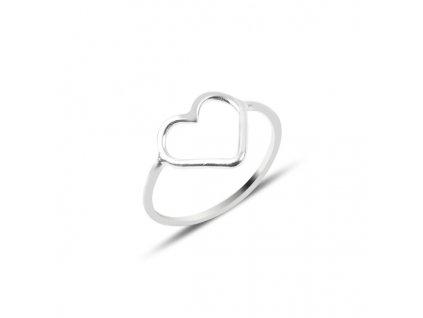 4044 Stříbrný prsten SRDCE  Ag 925; 0,9 g.