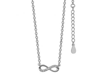 4039 Stříbrný náhrdelník NEKONEČNO  Ag 925; 1,6 g.