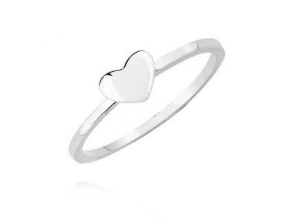 4040 Stříbrný prsten SRDCE  Ag 925; 1 g.