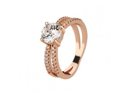 Stříbrný prsten ROSE, krásný dárek k Valentýnu, Vánocům, narozeninám.
