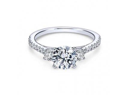 Zásnubní stříbrný prstýnek se zirkony od OLIVIE