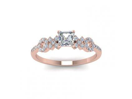 Stříbrný prsten XOXO ROSE, růžově zlacený od OLIVIE.
