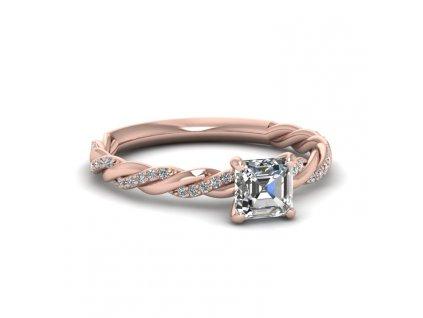 Stříbrný prsten AMORE ROSE, růžově zlacený od OLIVIE.