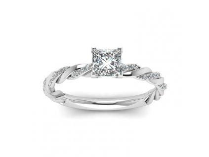 Stříbrný rhodiovaný zásnubní prsten AMORE od OLIVIE