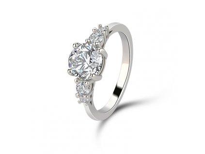 Stříbrný rhodiovaný prsten VYZNÁNÍ LÁSKY od OLIVIE