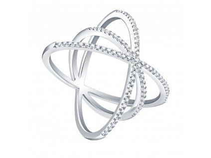 Stříbrný moderní prsten GALAXIE od OLIVIE