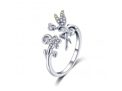Stříbrný prsten LESNÍ VÍLA od OLIVIE nastavitelný