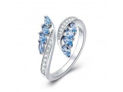 Stříbrný nastavitelný prsten KŘIŠŤÁLOVÁ VODA od OLIVIE