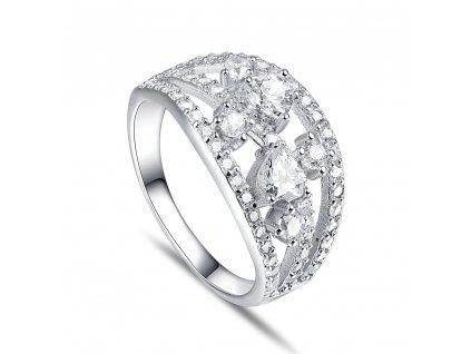 Stříbrný široký prsten CHLOE od OLIVIE