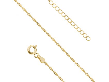 Stříbrný řetízek GOLD na nohu pozlacený od OLIVIE