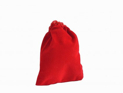 Dárkový sametový pytlík červený