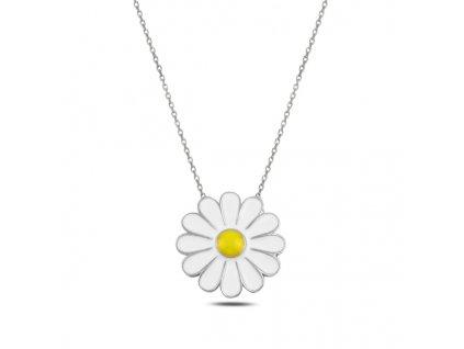 Stříbrný náhrdelník SEDMIKRÁSKA od OLIVIE