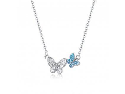 Stříbrný motýlí náhrdelník od OLIVIE