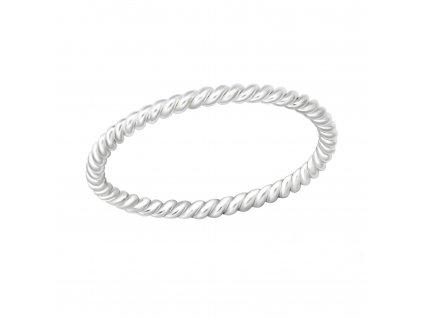 ZATOČENÝ stříbrný midi prsten, dětský prstýnek