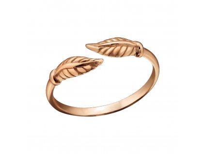Stříbrný prstýnek ANTEA ROSE růžově zlacený dětský prstýnek, MIDI prsten