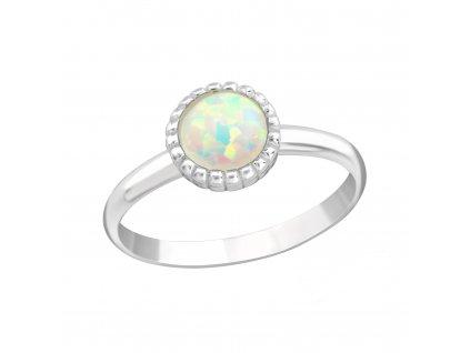 Dětský stříbrný prstýnek BÍLÝ OPÁL od OLIVIE