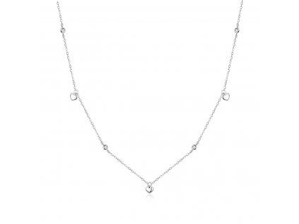 Stříbrný srdíčkový náhrdelník od OLIVIE se zirkony