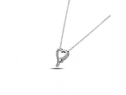 Stříbrný náhrdelník SRDÍČKO SWAROVSKI od OLIVIE