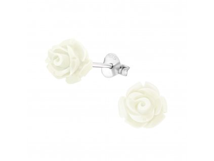 Stříbrné náušnice ROZÁRIE růžička OLVIE