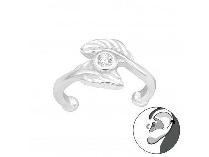 Stříbrná záušnice se zirkonem 1 ks od OLIVIE