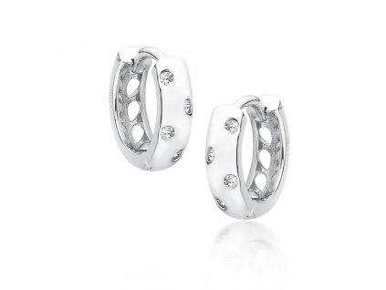 Stříbrné kroužky s čirými zirkony od OLIVIE