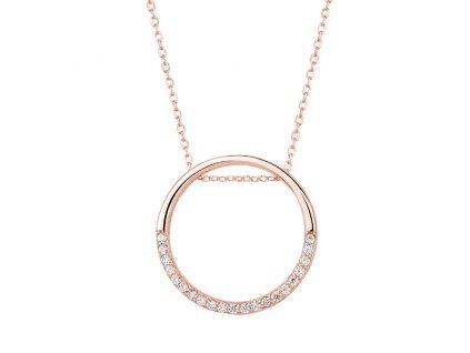 Stříbrný náhrdelník KRUH ROSE od OLIVIE
