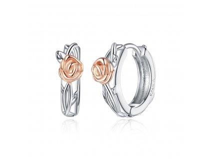Stříbrné kroužky RŮŽIČKA růžově pozlacené od OLIVIE