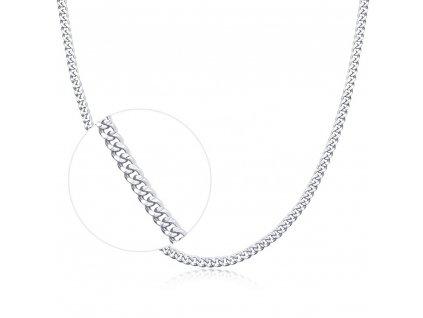 Stříbrný krátký 40cm řetízek rhodiovaný od OLIVIE