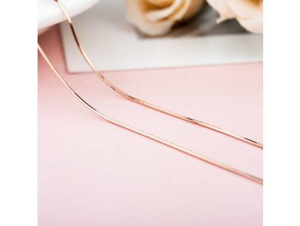 růžově zlacený HAD 60cm stříbrný řetízek růžově pozlacený