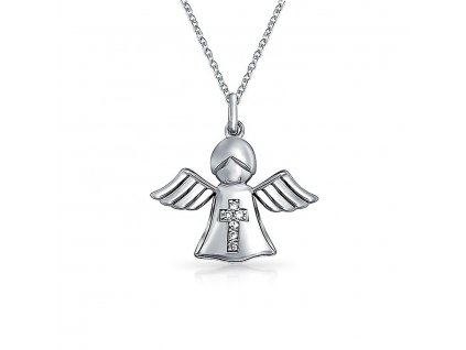 Dětský andílek, Stříbrný náhrdelník ANDĚL od OLIVIE