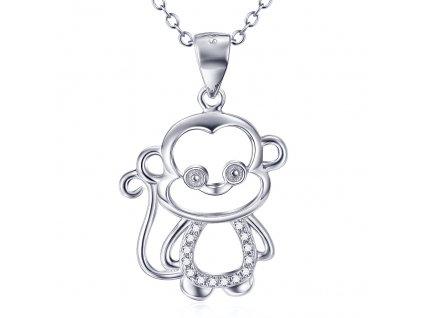 Stříbrný náhrdelník OPIČKA od OLIVIE