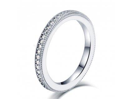 Stříbrný prstýnek AMAZING se zirkony od OLIVIE