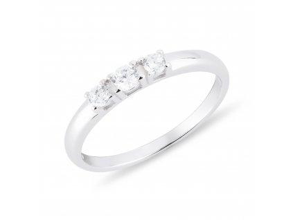 Dětský stříbrný prsten 3 ZIRKONY od OLIVIE