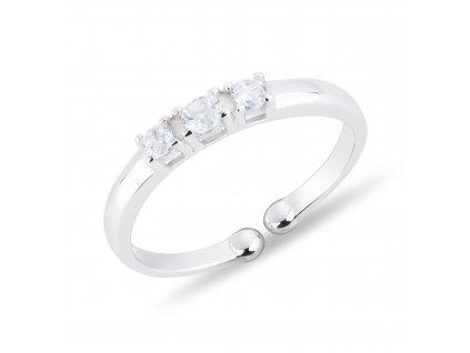 Dětský prsten 3 ZIRKONY nastavitelný od OLIVIE