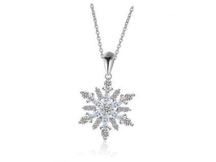 Stříbrný náhrdelník SNĚHOVÁ VLOČKA od OLIVIE