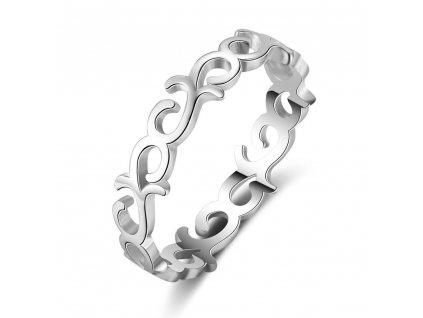 Stříbrný prstýnek POTAWATOMI od OLIVIE bez kamenů